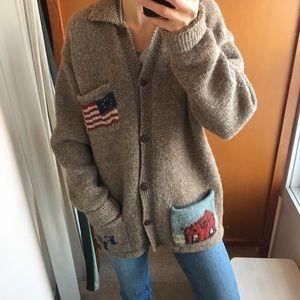 Ralph Lauren sz L wool Americana cardigan